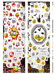 Halloween Carnival Nail Stickers Waterproof And Beautiful And Comfortable Safety 6Pcs
