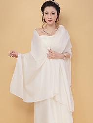 Women's Wrap Shawls Half-Sleeve Faux Fur  Party/Evening Off-the-shoulder 45cm Tassels Open Front