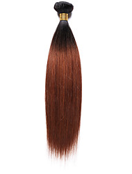 100g/pc Yaki 10-18Inch Color Two Tone Auburn Black Human Hair Weaves