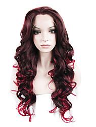 парик шнурка Парики для женщин Вино Карнавальные парики Косплей парики