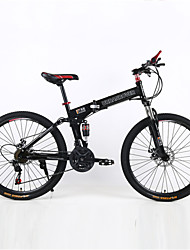 Bicicleta De Montanha / Folding Bikes Ciclismo 21 velocidade 26 polegadas/700CC Unissex / Masculino / Mulheres Freio a Disco DuploGarfo