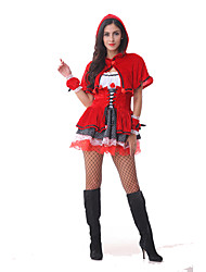 Costumes Fairytale Costumes Halloween / Christmas Red Patchwork Terylene Dress / More Accessories