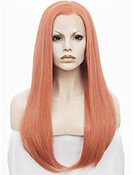 IMSTYLE 24Popular Rose Golden Straight Synthetic Lace Front Wig Cheap