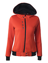 Women's Casual/Daily Street chic Regular HoodiesEmbroidered  Hooded Long Sleeve CottonSpring /