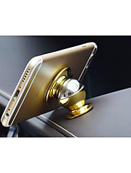 titular do telefone móvel ímã / 24k logo metal 360 graus de rotação de suporte multi telefone recurso