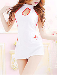 SKLV Women's Cotton Blends Nurse Uniforms Ultra Sexy/Suits Nightwear/Lingerie