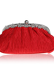 L.west Women Elegant High-grade Ruffles Diamonds Evening Bag