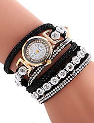 Women's Quartz Casual Fashion New Watch Leather Belt Bracelet Round Alloy Dial Watch Cool Watch Unique Watch