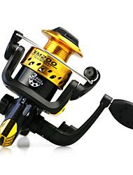 Molinetes de Pesca Molinetes Rotativos 5.1:1 3 Rolamentos TrocávelIsco de Arremesso / Pesca no Gelo / Rotação / Pesca de Água Doce /