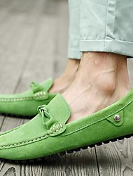Men's Shoes Suede Summer Loafers & Slip-Ons For Casual Black Brown Red Green Blue