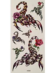 1 Tattoo Aufkleber Tier Serie / Blumen Serie scorpion roses Flash-Tattoo Temporary Tattoos