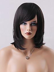 Charming Capless Wigs High Quality Mediuim Straight Human Hair  14 Inches