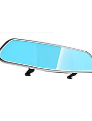 1080P Rearview Mirror Tachograph Vehicle Black Box Blue Mirror Wide-Angle Anti Glare