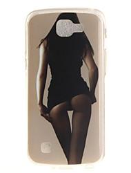 Back Cover IMD Pattern Sexy Lady TPU Soft Case Cover For LG LG K10 LG K8 LG K7 LG K4