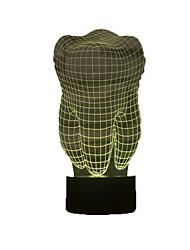fogformához 3d illúzió LED asztali lámpa éjszakai fény