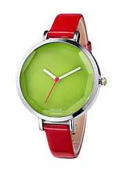 Женские Модные часы Кварцевый Кожа Группа Белый / Красный / Коричневый марка