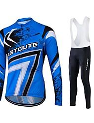 Fastcute Maillot de Ciclismo con Mallas Bib Hombre Mujer Unisex Manga Larga Bicicleta Pantalones/Sobrepantalón Chándal Camiseta/Maillot