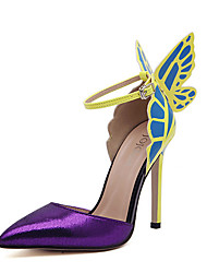 Women's Heels Spring / Summer / Fall / Winter Comfort PU Wedding / Dress Stiletto Heel Buckle Yellow / Purple Others