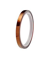marron haute température résistant spécifications de bande de polyimide 6mm largeur * 33y