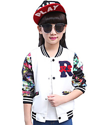 Girl's Sports Floral Suit & BlazerCotton Spring / Fall Pink / White