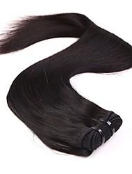 neitsi 14 '' девственные Малазийские прямые волосы утки натуральный черный 1b # дешевые пучки человеческие волосы Remy ткать расчесывания
