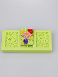 Square shape beautiful silicone mold silicone muffin pan soap mold cake decoration set