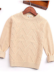 Casual/Daily Striped Sweater & Cardigan,Cotton Winter Spring Fall Long Sleeve Regular