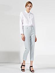 c + impressionner solide bleu / pantssimple d'affaires gris des femmes