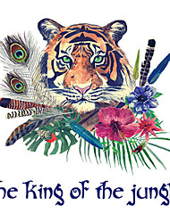 Wall Stickers Wall Decals The King of the Jungle Feature Removable Washable PVC