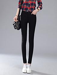 Femme Couleur Pleine Legging,Coton
