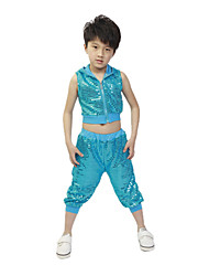 Jazz Performance Outfits Children's Performance Polyester Fashion Sequins Outfit(More Colors) Kids Dance Costumes