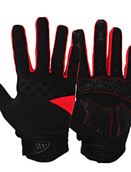 Activity/ Sports Gloves Cycling/Bike Unisex Full-finger Gloves Anti-skidding / Keep Warm / Windproof Green / Red / Blue