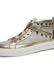 Men's Sneakers Spring / Fall / Winter Others Leather Outdoor / Casual Rivet / Magic Tape Black / Silver / Gold Others