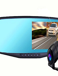 Vehicle Rear View Mirror Driving Recorder Double Lens 4.3 Backing Image High Definition Night Vision Recorder
