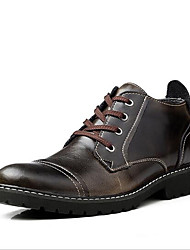 Men's Oxfords Spring / Fall Closed Toe Cowhide Outdoor / Casual Flat Heel Lace-up Black / Brown Others