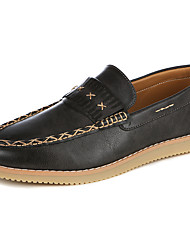 Men's Loafers & Slip-Ons Fall / Winter Comfort Microfibre Outdoor / Casual Flat Heel Others Brown / Gray Walking
