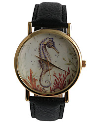 Leisure Style Ocean World Hippocampal Pattern Girls Watch