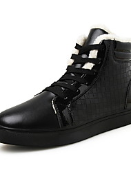 Men's Shoes EU39-46 Fashion Microfiber Medium cut Sneakers Lining Cotton Board Shoes Woven Boots Plus Size