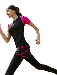 Running Clothing Sets/Suits Women's Short Sleeve Breathable / Soft Polyester / ElastaneYoga / Pilates / Camping / Hiking