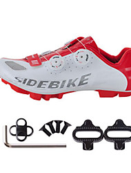 Cycling Shoes Unisex Outdoor / Mountain Bike Sneakers Damping / Cushioning White / Red-sidebike