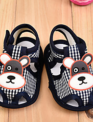 Unisex Sandals Summer Cotton Outdoor Casual Flat Heel Animal Print Black Blue Pink Red Walking