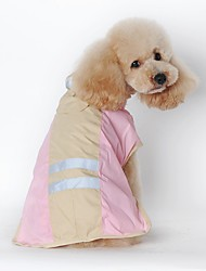Cat / Dog Rain Coat Blue / Pink Dog Clothes Winter / Spring/Fall Solid Waterproof