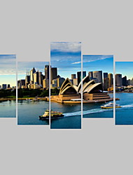 Fotografia Impressão em tela 5 Painéis Pronto para pendurar , Horizontal