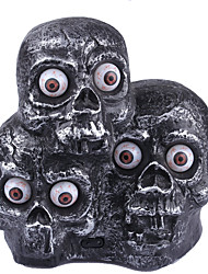 1PC Halloween   Furnishing Articles Terrorist Music Demon Headlights Induction Lights Glowing Eyes Three Ghosts