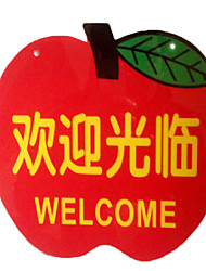 Soft Apple-Shaped Sign Listing Store Front Storefront Welcome Billboards Prompt Card