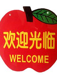 мягкие форму яблока листинг знак магазина передний витрины радушные билборды быстрое карты