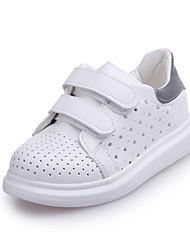 Unisex Sneakers Spring / Fall Comfort PU Casual Flat Heel Hook & Loop Gray / Black and White Sneaker