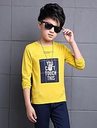 Casual/Dagelijks-Print-Katoen-Winter-Boy's-T-shirt-Groen / Geel