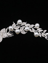 The Top Grade Long Style Pearl Flower Comb