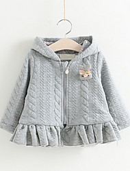 Girl's Casual/Daily Striped Sweater & CardiganCotton Winter / Fall Gray